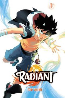 Cover art of the first volume of Radiant.jpg