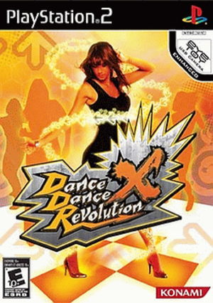 Dance Dance Revolution X - North American PlayStation 2 cover art
