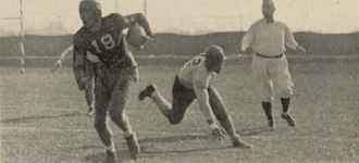 1930 Tulane Green Wave football team - Zimmerman's punt return against the Mississippi Aggies.