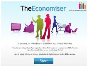 National Consumer Agency - Image: Economiser screenshot 250x 190