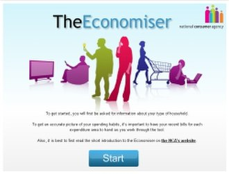 National Consumer Agency - Image: Economiser screenshot 250x 190