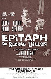 <i>Epitaph for George Dillon</i>