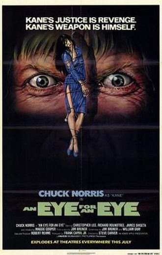 An Eye for an Eye (1981 film) - Promotional film poster