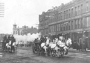 Dania Hall (Minneapolis) - Holtzermann's Store at 417-425 Cedar Avenue South 1907