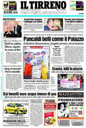 Il Tirreno - Image: Frontapage iltirreno