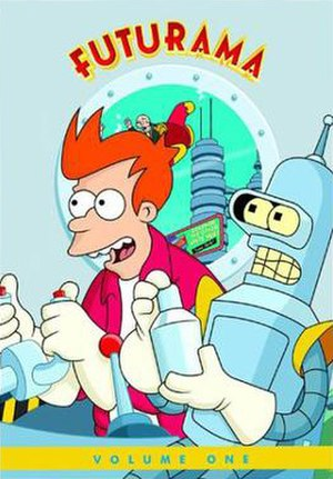 Futurama (season 1) - The original 2002 Volume One DVD cover.