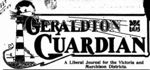 Geraldton Guardian - The original logo of the Geraldton Guardian