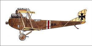 Adolf Heyrowsky - Phonix-built Hansa-Brandenburg CI 29.64 flown by Adolf Heyrowsky