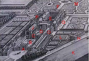 Hampton Court Palace With Marked Reference Points Referred To On This Page A West Front Main Entrance B Base C Clock Tower D