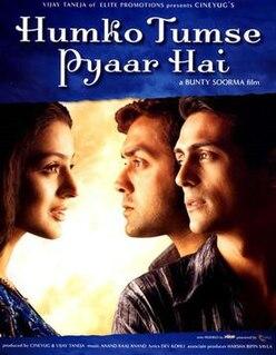 <i>Humko Tumse Pyaar Hai</i> 2006 Indian film directed by Vikram BhattBunty Soorma