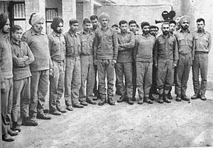 Frontier Force Regiment - A contingent of the FF Regiment with Indian POWs captured by 6th FF