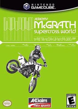 Jeremy McGrath Supercross World - North American cover art for GameCube