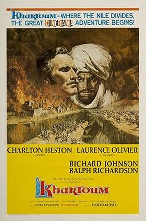 Khartoum (film) - Theatrical release poster   by Frank McCarthy