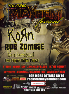 Mayhem Festival 2010 Mayhem Festival tour