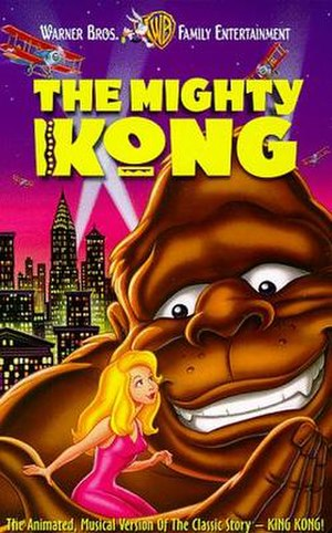The Mighty Kong - The cover of the 1998 animated feature film