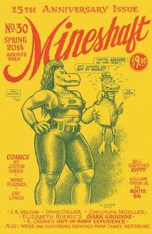 Mineshaft (magazine) - Image: Mineshaft 30, 15th Anniversary issue, front cover by Robert Crumb (2014)
