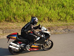 Aprilia RS250 - Aprilia RS250GP1 on the road.