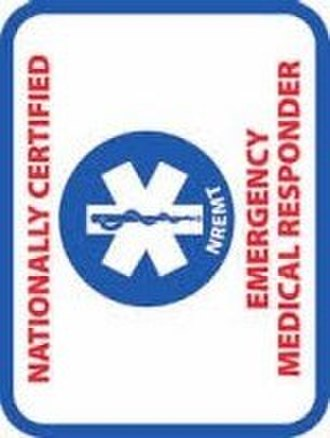 Emergency medical responder - EMR patch of the NREMT