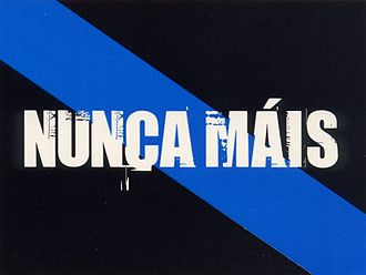 Flag of Galicia - Image: Nunca Máis Flag