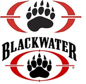 Academi - Blackwater logo introduced 2007 (top) and original logo (below)