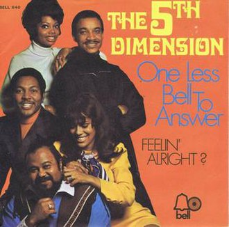 One Less Bell to Answer - Image: One Less Bell to Answer The 5th Dimension