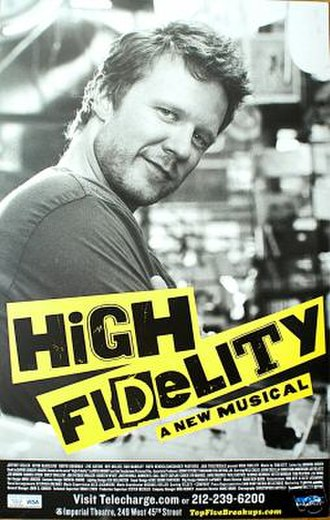 High Fidelity (musical) - Original Broadway promotional poster