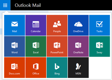 Outlook apps shortcuts