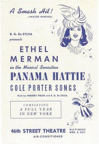 Panama Hattie - Original Broadway poster