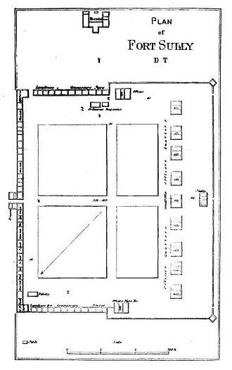 Fort Sully (South Dakota) - Plan of Fort Sully