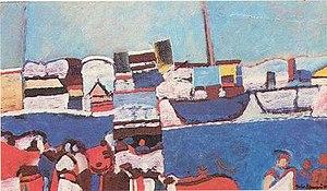 Julio Barragán - Puerto (oil on canvas, 1974).