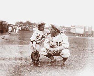 Ray Grimes - Grimes with his son Oscar Ray Jr., before a Cubs game circa 1921.