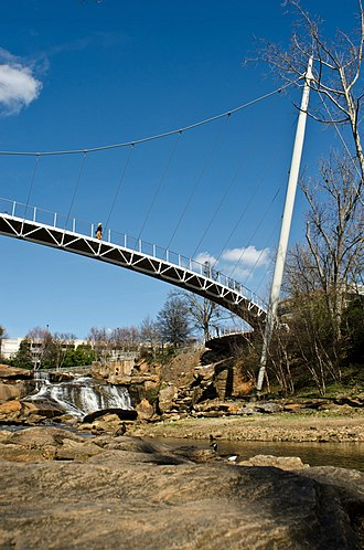 Falls Park on the Reedy - Liberty Bridge.