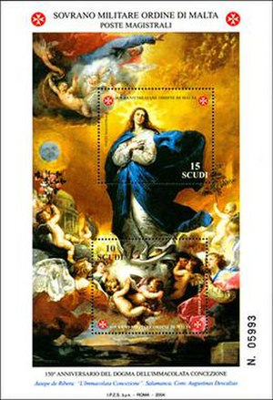 Postage stamps and postal history of the Sovereign Military Order of Malta - A miniature sheet issued by the SMOM in 2004