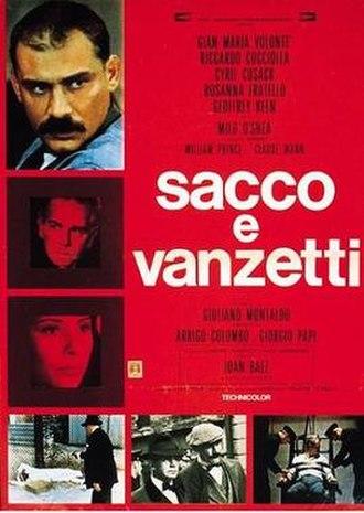 Sacco & Vanzetti (1971 film) - Italian film poster