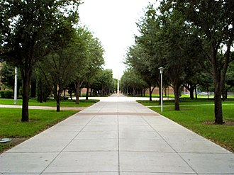 University of Texas–Pan American - Pathway leading toward the Science and Engineering buildings.