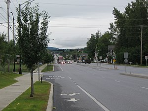 "Shelburne, Vermont - The ""Strip"" in the Shelburne business district (Shelburne Road)"