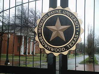 Howard Payne University - Image: Sign on gate, Howard Payne University