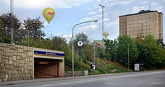 Stadshagen - One of the entrances to the metro station