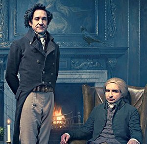 Jonathan Strange & Mr Norrell (miniseries) - Carvel (left) and Marsan (right) as the title characters Strange and Norrell, respectively.
