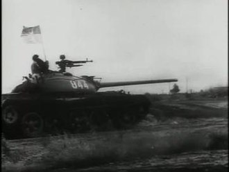 Battle of Ban Me Thuot - A Vietnam People's Army T-54 tank during operations in the Central Highlands