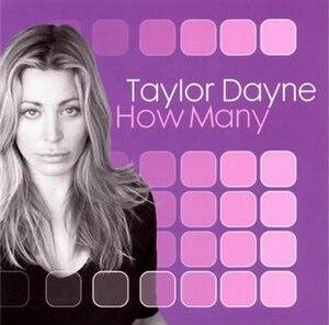 How Many - Image: Taylor Dayne – How Many (single cover)