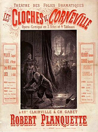 Les cloches de Corneville - Poster for original 1877 production