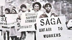 UNC Food Worker Strike - UNC Food Workers Protest SAGA