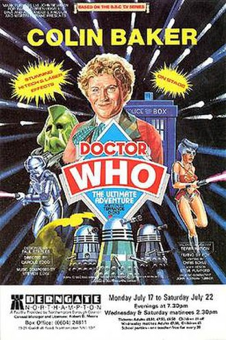 Doctor Who – The Ultimate Adventure - Advertisement for the play during the time Colin Baker starred as the Doctor.