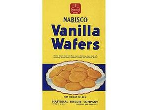 Nilla - Nabisco Vanilla Wafers box, prior to the 1967 name change