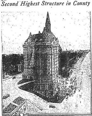 Villa Riviera - Drawing of the Villa Riviera published by the Los Angeles Times in 1928