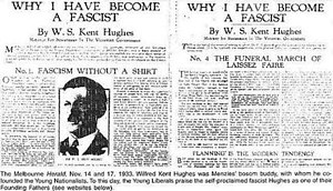 """Wilfrid Kent Hughes - The """"Why I have Become a Fascist"""" article"""