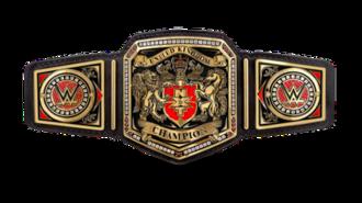 WWE United Kingdom Championship - The WWE United Kingdom Championship belt with default side plates.