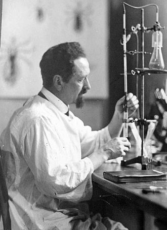 Rudolf Weigl - Rudolf Weigl in his laboratory