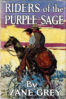 <i>Riders of the Purple Sage</i> novel by Zane Grey